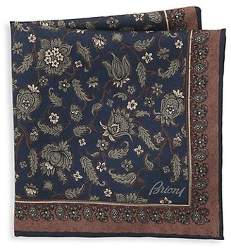Brioni Floral Print Pocket Square