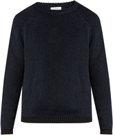 Fanmail Ribbed-knit cotton and linen-blend sweater