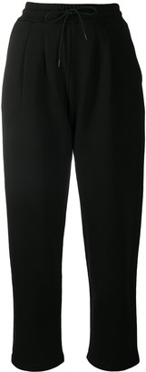 MSGM Drawstring-Waist Cotton Track Trousers