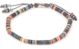 M. Cohen African vinyl disc-bead and silver bracelet