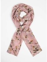 Dorothy Perkins Womens Pink Floral And Leaf Print Scarf- Pink