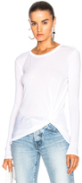 Enza Costa Side Knot Tee in White.