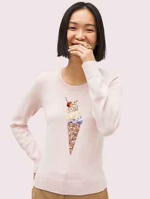 Kate Spade Embellished Ice Cream Sweater