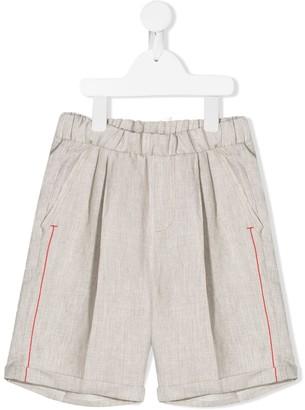 Dondup Kids Contrast Line Shorts