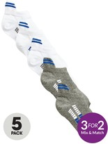 Very 5pk Trainer Heeled Socks