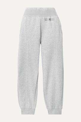 adidas by Stella McCartney Essentials Cotton-blend Fleece Track Pants - Gray