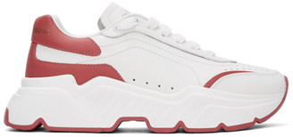 Dolce & Gabbana White and Pink Daymaster Sneakers