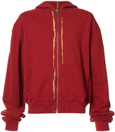 Haider Ackermann gold-tone detail hoodie - men - Cotton - XS
