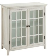 Gennessee Wooden 2 Door Accent Cabinet Highland Dunes Color: White