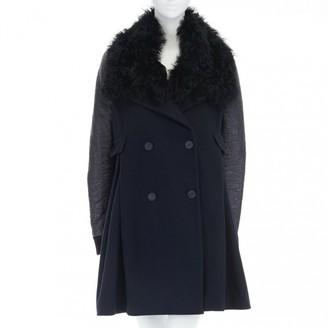 Preen Blue Wool Coats