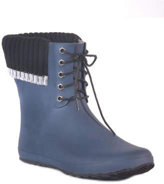 dav Coachella Lace Waterproof Women Ankle-Height Rain Boot Women Shoes