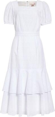 Rachel Parcell Tiered Eyelet Midi Dress