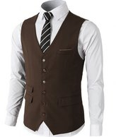 Aokaixin Men's Classic Solid Suit Separate Vest Waistcoat In Many Colors XXXXL