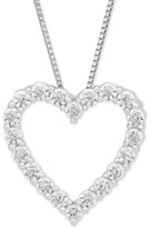 """Thumbnail for your product : Grown With Love Lab Grown Diamond Heart 18"""" Pendant Necklace (1/2 ct. t.w.) in 14k White Gold"""