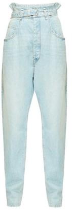 Etoile Isabel Marant Gloria Paperbag-waist Jeans - Womens - Light Blue