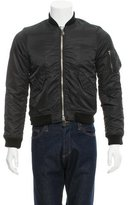 Marc by Marc Jacobs Rib Knit-Trimmed Bomber Jacket