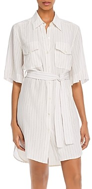 Equipment Amadee Striped Shirtdress