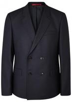 Hugo Andrew Navy Double-breasted Wool Blazer