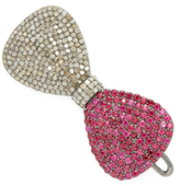 1.92 Total Ct. Diamond & Ruby Hairclip