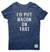Original Retro Brand Boys' I'd Put Bacon On That Tee - Big Kid