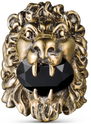 Gucci Lion head ring with crystal