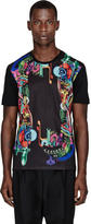Juun.J SSENSE Exclusive Black Gear-Print T-Shirt