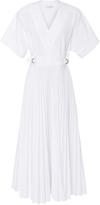 Tome Cotton Poplin Belted Wrap Dress
