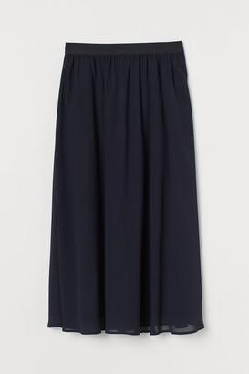 H&M Calf-length chiffon skirt