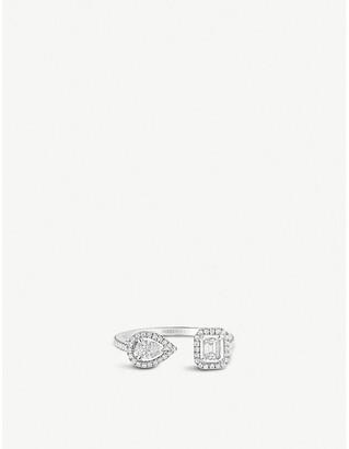 Messika My Twin Toi & Moi 18ct white-gold and diamond ring