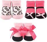"Luvable Friends Baby Girls' ""Fashion Leopard"" 3-Pack Socks"