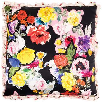 Preen by Thornton Bregazzi Decoupage Floral-Print Silk-Satin Pillow