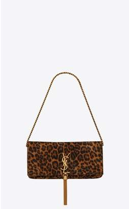Saint Laurent Kate 99 With Tassel In Leopard-Print Suede