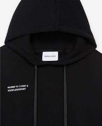 The Kooples Black hoodie with logo patch