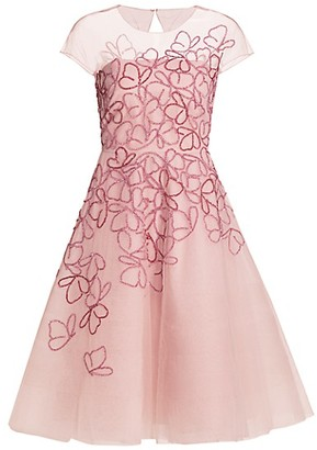 Ahluwalia Butterfly-Beaded Tulle Cocktail Dress