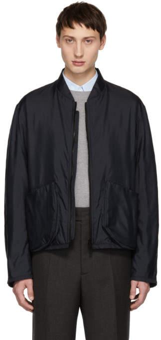 Jil Sander Navy Richmond Bomber Jacket