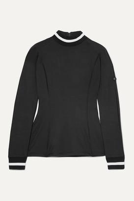 Bogner Madeline Striped Stretch-jersey Top - Black