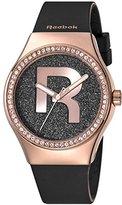 Reebok Icon Women's Quartz Watch with Black Dial Analogue Display and Black Silicone Strap RC-IDD-L2-S3IB-B3