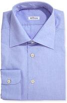 Kiton Menswear Poplin Dress Shirt, Blue