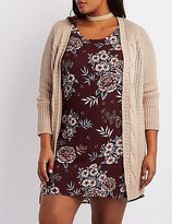 Charlotte Russe Plus Size Cable Knit Longline Cardigan