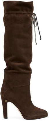 Gucci Women's knee-high boot with Double G