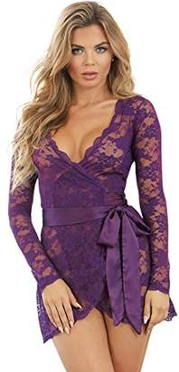 Dreamgirl Women's Wrap Chemise Negligee,16 (Size:Extra Large)