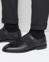 Zign Shoes Leather Elastic Strap Shoes