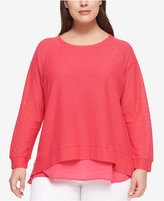 Tommy Hilfiger Plus Size Layered-Look Top
