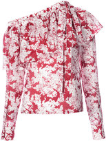 Robert Rodriguez floral print top - women - Silk/Cotton - 0