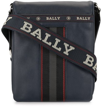 Bally Embroidered Logo Messenger Bag