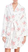 Jessica Simpson Rose Print Textured Plush Robe