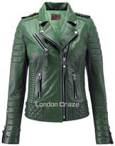 London Craze LondonCraze Women New Biker Leather Jacket M