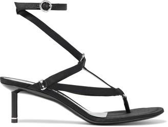 Alexander Wang Kit Ring-embellished Satin Sandals