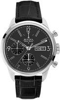 Bulova Men's Accu Swiss Automatic Leather Watch - 63C115