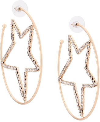 Dannijo Gabi rhinestone-embellished hoop earrings